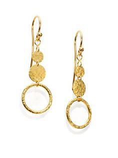 GURHAN - Lush 24K Yellow Gold Drop Earrings