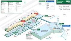 Airport Map of Minneapolis St Paul International Airport Terminal