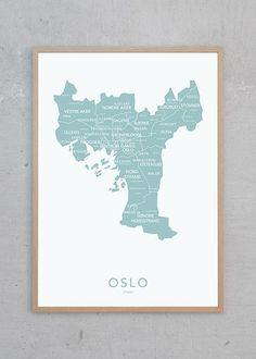 NØR | Oslo plakat | bykart | norsk design | interiør