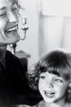 Loulou de la Falaise with her daughter, Anna. Guy Marineau
