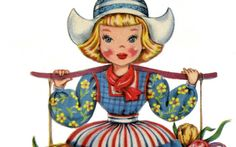 Cute Retro Dutch Doll Image!