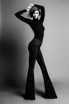 Strike a Pose - black & white fashion photography // Karlie Kloss for Frame Denim