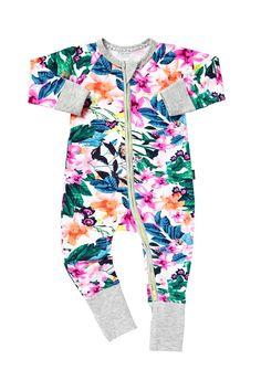 Bonds Zip Long Sleeve Wondersuit - Natives 00 PRT