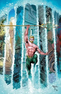 Aquaman pencils by Paul Pelletier inks by Sean Parsons colors by Rod Reis #PaulPelletier #SeanParsons #RodReis #Aquaman #ArthurCurry #Atlantis #JusticeLeague #JL #TheOthers