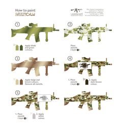 How to paint Multicam. You can buy Landscape Camouflage Stencils here…