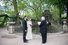 Real Weddings: Wedding Ceremony Location: Jardin Du Luxembourg, Paris – at the Medici Fountain