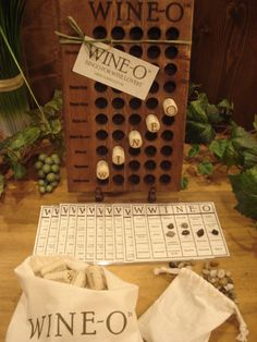 Wine-O Bingo Game for Wine Lovers Gift - made with up-cycled corks