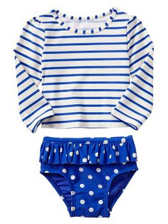 GAP PADDINGTON BEAR FOR BABYGAP MIXED PRINT RASHGUARD - BLUE LAGOON