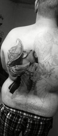 in progress. back tattoo archlord