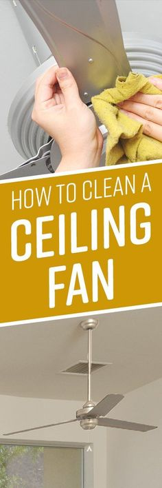 As seasons change, you may find yourself running your ceiling fans more often to circulate air and cool off a room. The more your fans circulate, the more dust House Cleaning Checklist, Household Cleaning Tips, Deep Cleaning Tips, Toilet Cleaning, Household Cleaners, Natural Cleaning Products, Cleaning Solutions, Cleaning Hacks, Cleaning Supplies