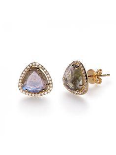 EF Collection Diamond Stone Slice Stud
