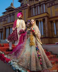 Latest Bridal Dresses, Indian Bridal Outfits, Indian Party Wear, Indian Bridal Fashion, Best Wedding Dresses, Simple Pakistani Dresses, Indian Gowns Dresses, Pakistani Bridal Dresses, Sikh Bride