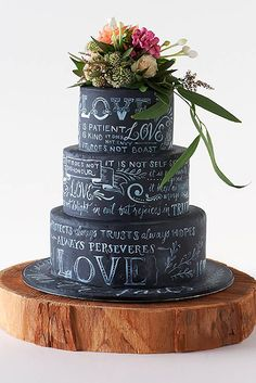 Amazing wedding cakes photos some inspiration for your cake design? A collection of our favourite (and very delicious looking) wedding cakes. Unique Cakes, Creative Cakes, Creative Wedding Cakes, Gorgeous Cakes, Pretty Cakes, Amazing Wedding Cakes, Amazing Cakes, Black Wedding Cakes, Cake Wedding