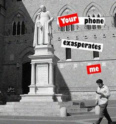 "Barbara Kruger: ""Your phone exasperates me"" Barbara Kruger, Artistic Photography, Image Photography, Digital Photography, Piero Manzoni, Propaganda Art, Conceptual Art, Banksy, American Artists"