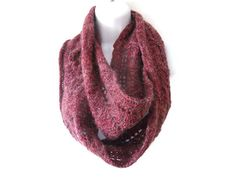 Mauve Infinity Scarf/Lace Infinity by TheFeminineTouch on Etsy, £34.00