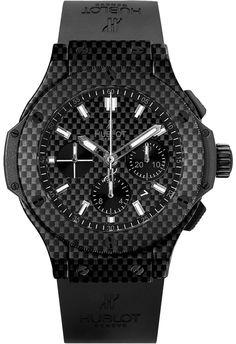Hublot Big Bang Black Carbon Fiber Dial Automatic Chronograph Men's Watch 301QX1724RX