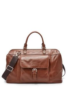 Fossil Estate Leather Framed Duffle Bag Men - All Accessories - Macy s b77e0e1c84d2b
