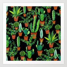 Cacti Art Print by Sian Keegan - $17.00