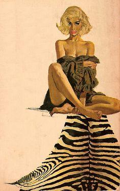 Ron Lesser inspired JZ-Trane / Ready to Jazz 9 - Mid Summer Night Lounge Robert Mcginnis, 60s Art, Retro Art, Vintage Art, Art And Illustration, Illustrations, Pulp Fiction Kunst, Transformers Art, Black Women Art