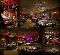 Red and Black reception details (at The Fort Worth Club)