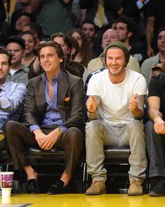 David Beckham made a new friend in Scott Disick.   David Beckham ...