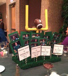 High school football banquet centerpieces
