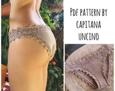 This listing is PDF CROCHET PATTERN for Luna cropped Top and Lorelei bikini top and bottom, Not finished item:) Skill level: (EASY), INTERMEDIATE You should know the basic stiches: chain stitch, single crochet, slip stitch, double crochet. All the other sticthes used in the pattern are explained. This pattern is written in standard American terms and includes lot of photos of the process (49 photos and the charts for the flower pattern). The flower pattern for the Luna top is not explained…