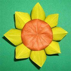 折り紙でひまわりの折り方!簡単立体的な作り方を紹介 | セツの折り紙処 - Part 2