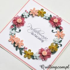 greeting card, quilling, handmade, Quilling.com.pl