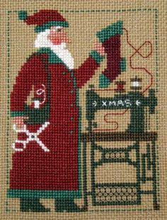 "Prairie Schooler Sewing Santa 2006. I believe there are many ""santa's helpers"" sewing up a storm this weekend!"