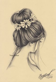 New Flowers In Hair Drawing 19 Ideas Girly Drawings, Sketches, Art Sketchbook, Flower Drawing, How To Draw Hair, Pencil Drawings Of Flowers, Flower Sketches, Bff Drawings, Art Drawings Beautiful