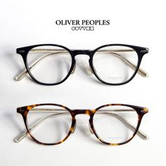 OLIVER PEOPLES オリバーピープルズ HANKS-J ウェリントンフレーム 芯張り メガネ 伊達 度付き