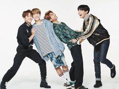 Jungkook, Jimin, Rap Monster and J-hope