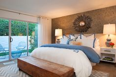 Love the chest in front of bed and the color scheme. House of Turquoise: Joel Dessaules Design