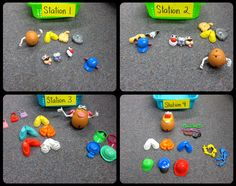 Probability with Mr. Potato Head.  There are also some lego math activities on her blog.