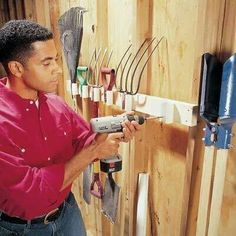 Use pvc to hang handled tools.