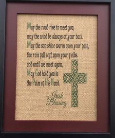#Irish #blessing #homedecor  #Christian #Catholic #etsy #gcrdesigns