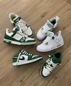 Dr Shoes, Swag Shoes, Nike Air Shoes, Hype Shoes, Me Too Shoes, Sneakers Nike, Converse Shoes Outfit, Green Nike Shoes, Green Converse