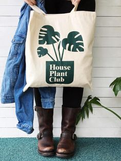 Plant Lover Gifts - House Plant Club Tote Bag & More!