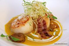 Discover tips and facts on fine Italian Cuisine and Italian wine. Fish Recipes, Seafood Recipes, Gourmet Recipes, Cooking Recipes, Menu, Weird Food, Antipasto, Food Presentation, Finger Foods