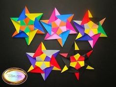 Origami Stella Della Mamma - Mother's Star Tutorial - Design by Francesco Mancini - YouTube