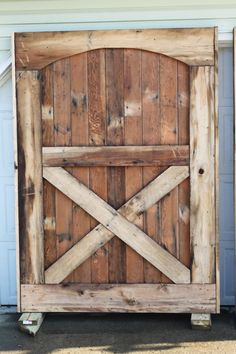 Our Barn Door Made From Old Barn Flooring and Siding