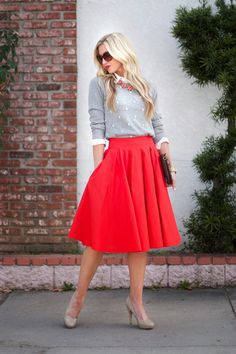 Full Take A Bow skirt with a preppy twist.