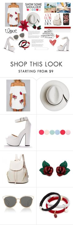"""""""Untitled #77"""" by barbie-739 ❤ liked on Polyvore featuring Calypso Private Label, Nails Inc., Christian Dior, Marc Jacobs, Gucci and Kate Spade"""