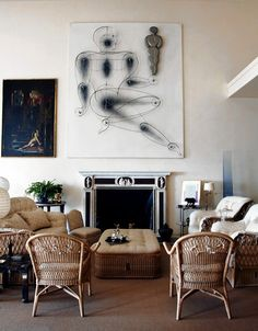 Marella Agnelli's Rome living room, photo by Oberto Gili via the Wall Street Journal