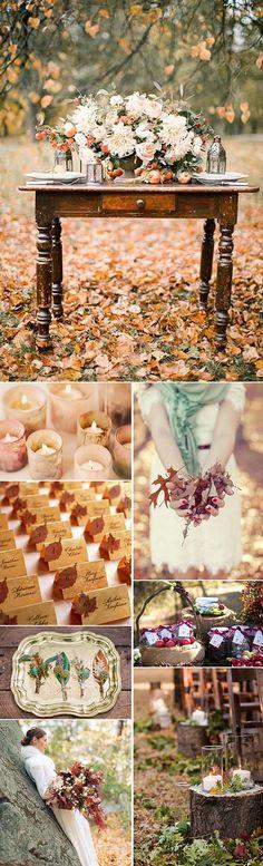 Bodas de Otoño – Ideas e inspiración para decorar con elementos de otoño