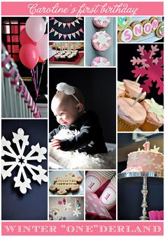 winter parties, birthday parti, winter onederland, snowflake party, 1st birthday themes