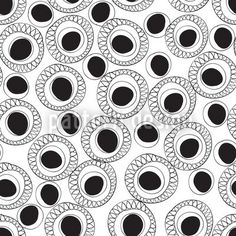 Black And White Fantasy by Annemiek Groenhout available for download on patterndesigns.com