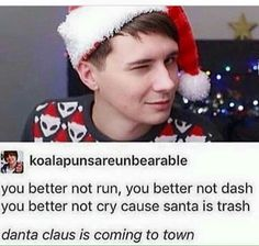 Omg I want him to be my Santa clause. I want him to creepily go down my chimney and watch me sleep and give me presents.