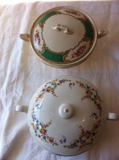 Lidded bowls # wedding #vintagechina